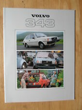 VOLVO 343 DL 1979 UK Mkt Prestige Sales Brochure