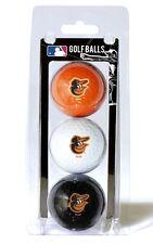 Baltimore Orioles 3 Pack Golf Balls [NEW] MLB White Golfing Pk Ball CDG