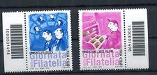 Italia 2012 giornata della filatelia coppia di valori con codice a barre Mnh