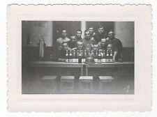 7/24 FOTO SOLDATEN SEKT WEIN BIER PARTY STAHLHELM LUFTWAFFE
