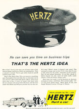 1957 Chevrolet Bel Air Hertz Rental - Vintage Advertisement Car Print Ad J475