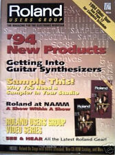 ROLAND USERS GROUP Magazine Guitar Synths '94 New Items, Guitar Synths DR-5 E-66
