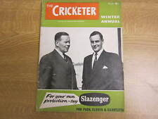November 1956, THE CRICKETER WINTER ANNUAL, Peter May, John Goddard, Mike Youll.