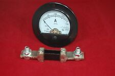 DC 200A  Round Analog Ammeter Panel AMP Current Meter DH62 DC 0-200A with shunt