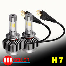2Pcs H7 LED Conversion Headlight Kit 120W 12000LM HID White 6000K Light Bulb