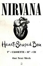 28/8/93PGN21 NIRVANA : HEART SHAPED BOX SINGLE ADVERT 7X10""