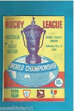 #QQ. THE RUGBY LEAGUE NEWS, 25th May 1968, Australia vs Great Britain Cover