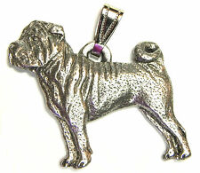 Shar Pei Pendant Dog Harris Fine Pewter Made in USA jewelry