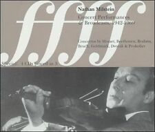 NATHAN MILSTEIN - Concert Performances And Broadcasts... CD Like New / Mint RARE