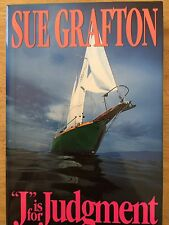 "Sue Grafton, ""J Is For Judgment"", Autographed First Edition, New Book!"