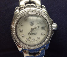 Ladies Tag Heuer Professional 200m S/S Diamond Dial and Diamond Bezel Watch