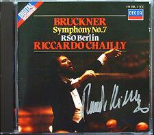 Riccardo CHAILLY Signiert BRUCKNER Symphony No.7 RSO Berlin CD DECCA 1985