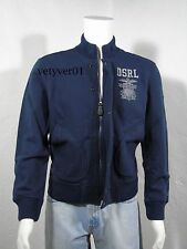 NWT RALPH LAUREN D&S Military/Navy Cotton French Terry Navy Blue Jacket size S