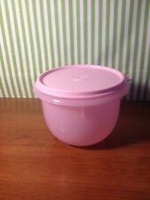 Tupperware Small Nesting Mixing  Bowl Sheer Pink with Texture on the Sides 5 Cup