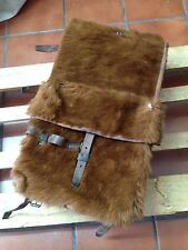 1950 Swiss Army Cowhide Leather Backpack Rucksack Military Vintage