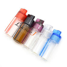 1 Pc Modern DIY Snuff Bottle Empty Refillable Glass Acrylic Spoon Health Random