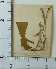 Victorian Trade Card Bum Lamp-Post Hat's A stunner If That Shadow's Right F62