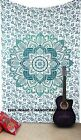 Hippie Ombre Mandala Indian Bedspread Boho Wall Hanging Twin Tapestry Bed Cover