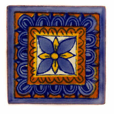 Fairly Traded Handmade Ceramic Mexican Talavera Tile - Yesenia (T12859-22)
