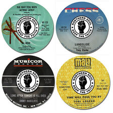 Northern Soul Record Label Coasters Set Of 4. High Quality Cork Back Music Gift