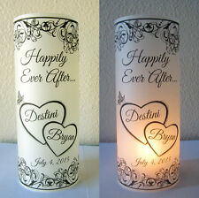 12 Personalized Wedding Centerpiece Luminaries Heart Table Decoration lantern
