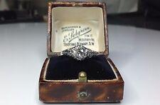 Estate Antique Art Deco 14K White Gold 1.00 CTW Diamond Solitare Engagement Ring