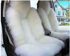 Genuine Sheepskin Long Wool Car 1 Front Seat Covers Cushion Winter Universal Z3B