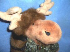 "camo camping MOOSE plush stuffed toy hunting ""Crocket"" 14+"" tall 'coon hat"
