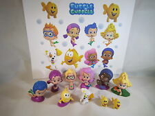 BUBBLE GUPPIES Set of 10 pcs Cake Toppers PlaySet with detachable bases. NICE!