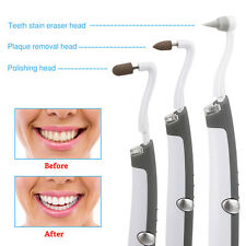 LED Sonic Teeth Tooth Stain Eraser Cleaning Whitening Polishing Plaque Remover