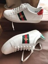 Gucci Ace Embroidered Gold Bee Low-Top Sneakers White Women Size US 7.5 EU 39