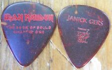 Official JANICK GERS IRON MAIDEN Book of Souls Ch:1 2016 Tour GUITAR PICK