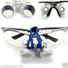 3.5X 420mm Dental Surgical Binocular Optical Glass Ni-alloy Frame Dental Loupes