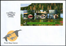 Finland FDC 2010 Hunting, Duck, Elk, Crayfish, Sheet, Mint