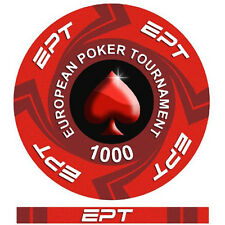 Fiches Ceramica EPT European Poker Tour Valore 1000 - Bordo Allineato