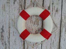 "5.5"" Nautical Lifering Buoy ~ Red & White ~ Life Ring Preserver Float ~ Decor"