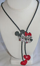 1980s Exquisite Mickey and Minnie Mouse crystal lariat necklace PRICED TO SELL