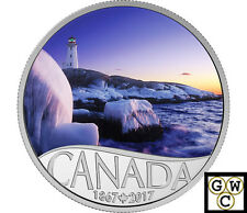 2017 $10FINE SILVER CELEBRATE CANADA 150TH:LIGHTHOUSE AT PEGGY'S COVE(NT)(17781)