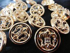 Bottoni, buttons, oro, 10st... giglio francese, clasisch... barocco. PREZIOSI, boutons