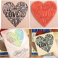 Wooden Rubber Love Heart Stamp For Diary Scrapbooking Card Making DIY Craft HGUK