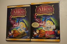 Alice in Wonderland (2 DVD SET, 2004,The Masterpiece Edition)  LIKE NEW w/Sleeve