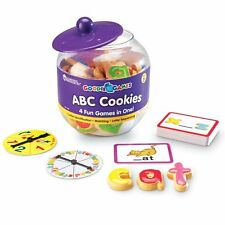 Learning Resources Goodie Games ABC 42 plastic letter-shaped cookies storage jar