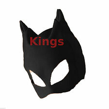 Black Plastic Cat Mask Masquerade Mask Cat Woman Cat Ears Fancy Dress Dress Up