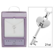 equilibrium crystal 21st birthday key necklace pendant  jewellery gift present
