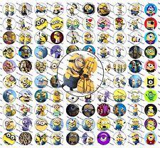 """100 Precut 1"""" Minions  Bottle Cap Images Set 1"""