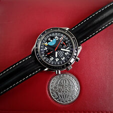 Omega Triple Calendar Speedmaster Schumacher Automatic Chronograph