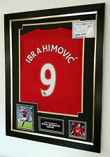 ** Zlatan Ibrahimovic of Manchester United Signed Shirt AUTOGRAPH Display  ***