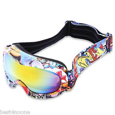 Kid UV Protection Double Anti-fog Lens Spherical Skiing Glasses Snow Goggles