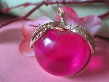 Vintage Gold Tone SARAH COVENTRY RED Cherry Lucite Jelly Belly Pin/Brooch-18