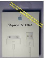 ORIGINAL APPLE IPHONE, IPOD & IPAD 30PIN USB DATA SYNC CABLE